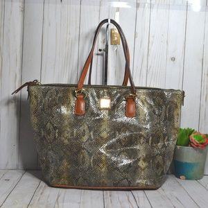 Dooney & Bourke Python Print Extra Large Tote Bag